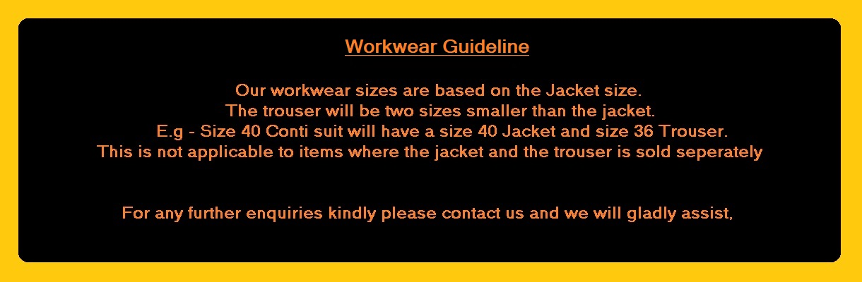 Workwear Sizing