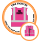 Branded Reflective Waist Coat - Hot Pink - Fire Fighter