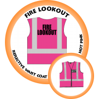 Branded Reflective Waist Coat - Hot Pink - Fire Lookout