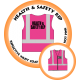 Branded Reflective Waist Coat - Hot Pink - Health & Safety Rep