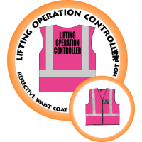 Branded Reflective Waist Coat - Hot Pink - Lifting Operation Controller