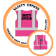 Branded Reflective Waist Coat - Hot Pink - Safety Officer