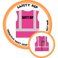 Branded Reflective Waist Coat - Hot Pink - Safety Rep