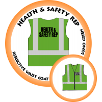 Branded Reflective Waist Coat - Lumo Green - Health & Safety Rep