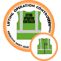 Branded Reflective Waist Coat - Lumo Green - Lifting Operation Controller