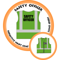 Branded Reflective Waist Coat - Lumo Green - Safety Officer