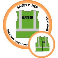Branded Reflective Waist Coat - Lumo Green - Safety Rep