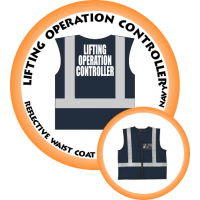 Branded Reflective Waist Coat - Navy - Lifting Operation Controller
