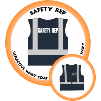 Branded Reflective Waist Coat - Navy - Safety Rep