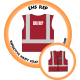 Branded Reflective Waist Coat - Red - EHS Rep