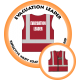 Branded Reflective Waist Coat - Red - Evacuation Leader