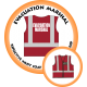 Branded Reflective Waist Coat - Red - Evacuation Marshal