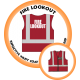Branded Reflective Waist Coat - Red - Fire Lookout