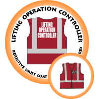 Branded Reflective Waist Coat - Red - Lifting Operation Controller