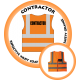 Branded Reflective Waist Coat - Safety Orange - Contractor