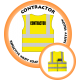Branded Reflective Waist Coat - Safety Yellow (Lime) - Contractor