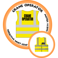 Branded Reflective Waist Coat - Safety Yellow (Lime) - Crane Operator