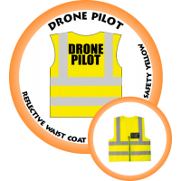Branded Reflective Waist Coat - Safety Yellow (Lime) - Drone Pilot