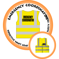 Branded Reflective Waist Coat - Safety Yellow (Lime) - Emergency Coordinator
