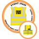 Branded Reflective Waist Coat - Safety Yellow (Lime) - Event Staff