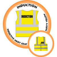 Branded Reflective Waist Coat - Safety Yellow (Lime) - Induction