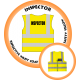 Branded Reflective Waist Coat - Safety Yellow (Lime) - Inspector