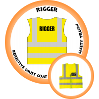 Branded Reflective Waist Coat - Safety Yellow (Lime) - Rigger