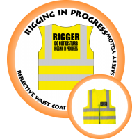 Branded Reflective Waist Coat - Safety Yellow (Lime) - Rigging In Progress