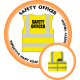 Branded Reflective Waist Coat - Safety Yellow (Lime) - Safety Officer