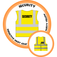 Branded Reflective Waist Coat - Safety Yellow (Lime) - Security