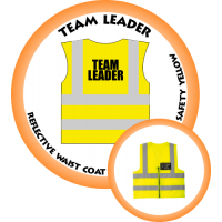 Branded Reflective Waist Coat - Safety Yellow (Lime) - Team Leader