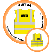 Branded Reflective Waist Coat - Safety Yellow (Lime) - Visitor