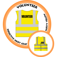 Branded Reflective Waist Coat - Safety Yellow (Lime) - Volunteer