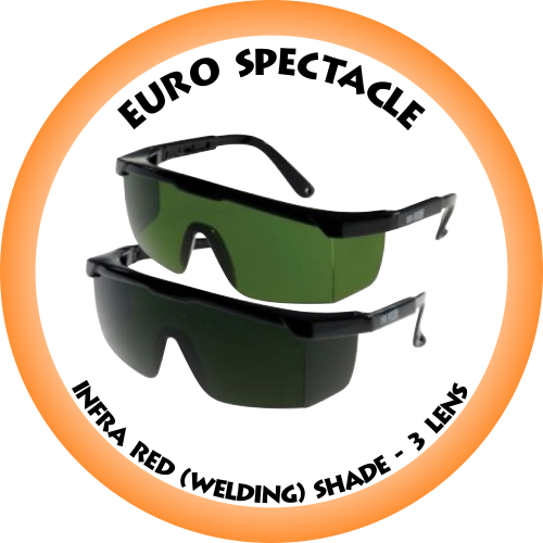 Euro Spectacle Infra Red (Welding) Shade 3 lens - SP7022G3