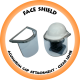 Face Shield Aluminium Cap Attachment 1mm Clear Lens - FSC 6