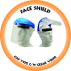 Face Shield Cap Type c/w 1mm Clear Visor