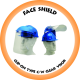 Face Shield Clip-On Type c/w 1mm Clear Visor (Contact us for availability)
