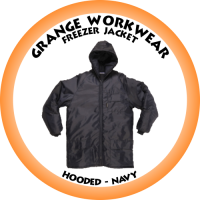 Freezer Jacket c/w Hood Navy - PC0913 (Please confirm stock before placing your order)