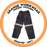 Freezer Trouser c/w Reflective Tape Navy - PC0991 (Please confirm stock before placing your order)