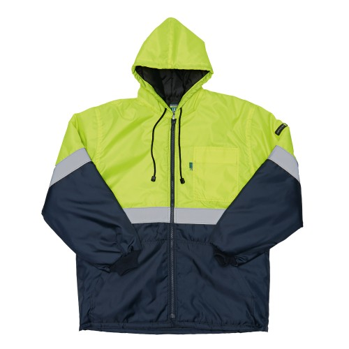 5538 - JAVLIN  Two Tone Parka Jacket Lime/Navy (New Look) ETA End of July 2019