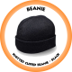 Knitted Cuffed Beanie Black - B001 (Price based on Qty of 10+)