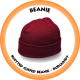 Knitted Cuffed Beanie Burgundy - B001