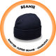 Knitted Cuffed Beanie Charcoal - B001