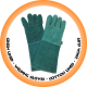 Green Lined Welding Glove cotton Lined - 20cm Cuff