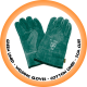 Green Lined Welding Glove cotton Lined - 5cm Cuff