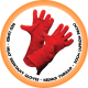 Red Lined Heat Resistant Glove,Kevlar Thread - 20cm (Apron Palm)