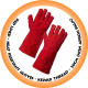 Red Lined Heat Resistant Glove,Kevlar Thread - 20cm (Non Apron Palm)