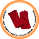 Red Lined Heat Resistant Glove,Kevlar Thread - 5cm (Apron Palm)