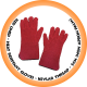 Red Lined Heat Resistant Glove,Kevlar Thread - 5cm (Non Apron Palm)