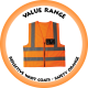 Reflective Waist Coat - Safety Orange